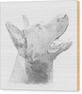 German Shepherd Profile Wood Print