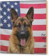 German Shepherd - U.s.a. - Text Wood Print