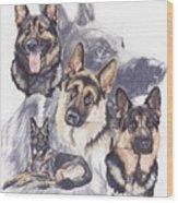 German Shepherd W/ghost Wood Print