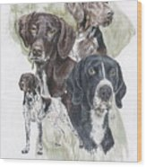 German Shorted-haired Pointer Revamp Wood Print