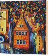 Germany - Medieval Rothenburg Wood Print