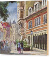 Germany Baden-baden Lange Str Wood Print