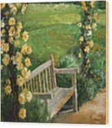 Germany Baden-baden Rosengarten  Wood Print