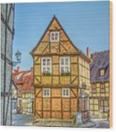 Germany - Half-timbered Houses And Alleys In Quedlinburg Wood Print