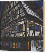 Germany Ulm Fischer Viertel Schwor-haus Wood Print