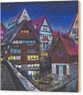 Germany Ulm Fischer Viertel Wood Print