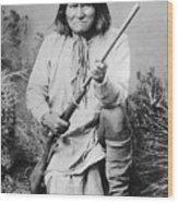 Geronimo Apache Indian Native American Wood Print