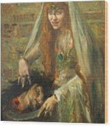 Gertrud Eysoldt As Salome Wood Print