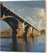 Gervais Street Bridge, Columbia, Sc Wood Print