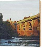 Gervais Street Bridge Upstream  Wood Print