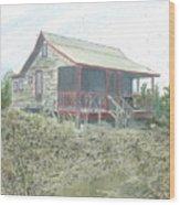 Get Away Cottage Wood Print