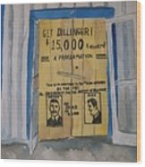 Get Dillinger Wood Print