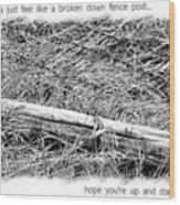 Get Well Post Wood Print
