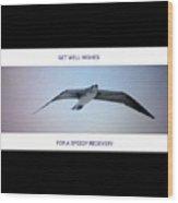 Get Well Seabird Wood Print