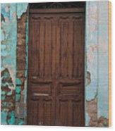 Getemala  Door 1 Wood Print