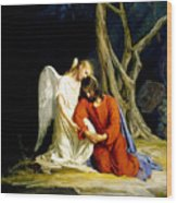 Gethsemane Wood Print by Carl Bloch