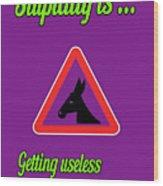 Getting Bigstock Donkey 171252860 Wood Print