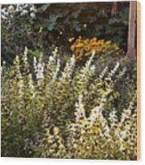 Lost In The Flower Garden Wood Print
