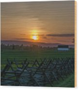 Gettysburg At Sunset Wood Print