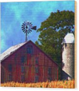 Gettysburg Barn Wood Print
