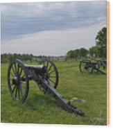 Gettysburg Battlefield Cannons Wood Print