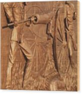 Gettysburg Bronze Relief Wood Print