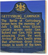 Gettysburg Campaign Wood Print
