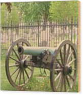 Gettysburg Cannon Cemetery Hill Wood Print