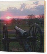 Gettysburg Cannon Wood Print