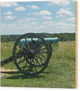 Gettysburg Cannon Wood Print by Kevin Croitz