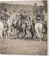 Gettysburg Cavalry Battle 7970s  Wood Print