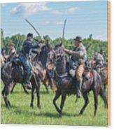 Gettysburg Cavalry Battle 7978c  Wood Print