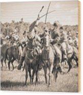 Gettysburg Cavalry Battle 7992s  Wood Print