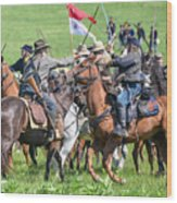Gettysburg Cavalry Battle 8021c  Wood Print