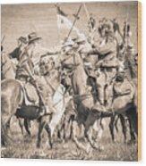 Gettysburg Cavalry Battle 8021s  Wood Print