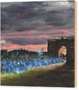 Gettysburg Evergreen Wood Print