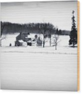 Gettysburg Farm In Winter Wood Print