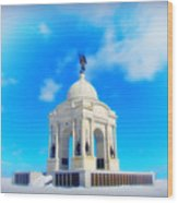 Gettysburg Memorial In Winter Wood Print