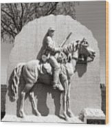 Gettysburg National Park 17th Pennsylvania Cavalry Monument Wood Print