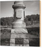 Gettysburg National Park 30th Pennsylvania Infantry Monument Wood Print