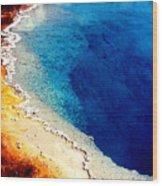 Geyser Basin Wood Print