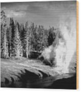 Geyser Wood Print by Carrie Putz