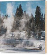 Geyser Trail Wood Print