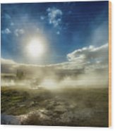 Geysir Wood Print