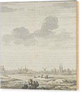Gezicht Op Harderwijk Wood Print
