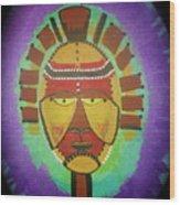 Ghana Mask Wood Print