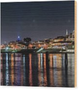 Ghirardelli Square At Night Wood Print