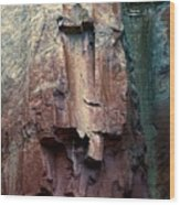 Ghost Cliff Abstract Wood Print
