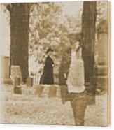 Ghost In The Graveyard Wood Print