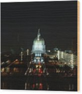 Ghost Lights Of Pa State Capital   # Wood Print